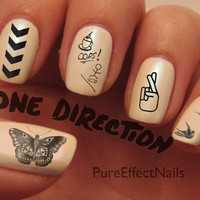 One Direction Tattoo Nail Decals