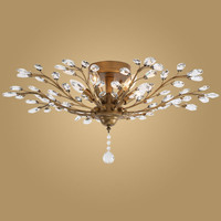 Modern Crystal Ceiling Light Fixtures For Bedroom Kitchen Living Room Crystal Branches Style Plafon Avize Blc057