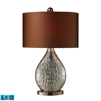 Sovereign LED Table Lamp In Antique Mercury And Coffee Plating Antique Mercury,Coffee Plating