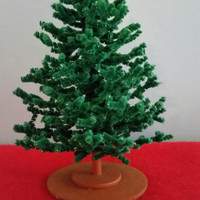 Miniature Chenille Christmas Tree Dollhouse Scale