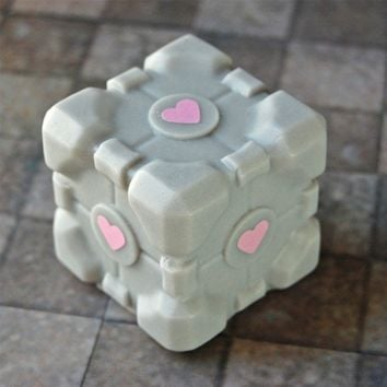 Companion Cube Soap Cake scented no lie by SoapLane on Etsy