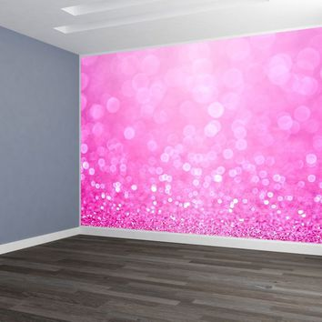 Sparkle Pink Glitter Custom Wallpaper Peel and Stick