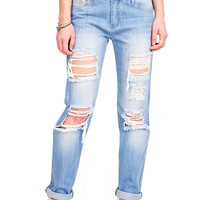 Truth or Dare Low-Rise Boyfriend Jeans