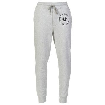 True Religion Grey Pride Cuffed Sweatpants