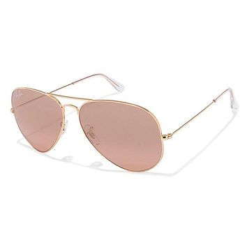 Tagre™ Cheap Ray-Ban RB3025 Aviator Large Metal Mirrored Unisex Sunglasses Gold Frame/Crystal outlet