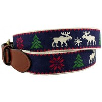 Christmas Sweater Needlepoint Belt in Navy by Smathers & Branson