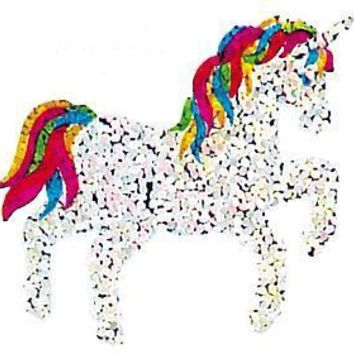 Jillson & Roberts Bulk Roll Prismatic Stickers, Unicorn / Rainbow Mane and Tail (100 Repeats)
