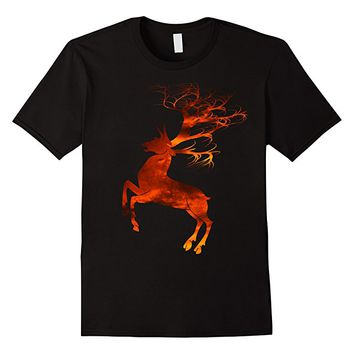 Deer Horns Dry Tree T-shirt