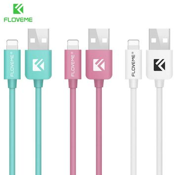 FLOVEME USB Cable For Apple iPhone 5 5S 6 6S 7 Plus 5V/2.1A 1M Data Charger Lighting USB Cable Data Line For iPod iPad Air IOS