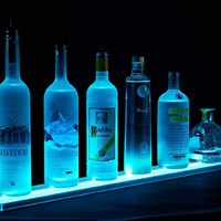 Floating Shelf - 2' LED Lighted Liquor Shelves Bottle Display -Home Bar Lighting