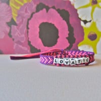 Dark Purple & Pink LOVATIC Bracelet