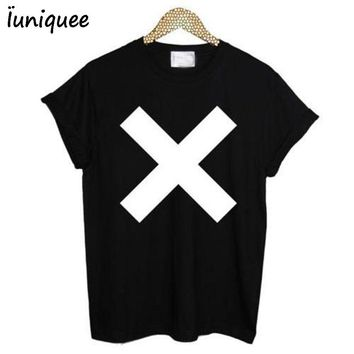 Inverted Cross Women'sT Shirt ANTI CROSS SATAN goth metal punk short sleeve Summer Tees