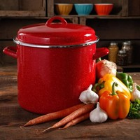 The Pioneer Woman Vintage Speckle 12-Quart Stock Pot with Hollow Side Handles - Walmart.com