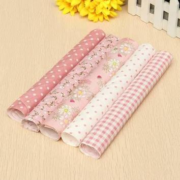 """5 Pcs 25*25 cm Sewing Assorted Pre Cut Charm 10 Squares Quilt Cotton Cloth Fabric Craft"""""""
