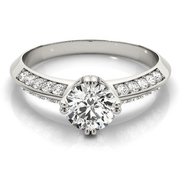 European Engagement Ring - - ERES107
