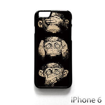 illustrations three wise monkeys wisdom for Iphone 4/4S Iphone 5/5S/5C Iphone 6/6S/6S Plus/6 Plus Phone case