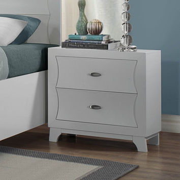 Homelegance Zandra 2 Drawer Nightstand in White