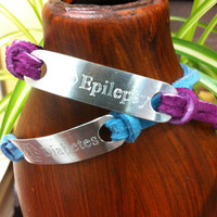 Two Sided Engraved Bracelet, Inspirational Quotes, Hidden Messages, Medical Alerts and more