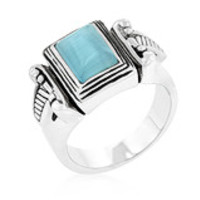 Blue Cats Eye Vintage Ring