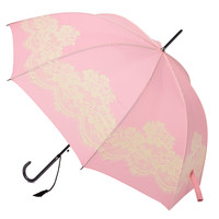 Pink & Cream Floral Vintage Umbrella