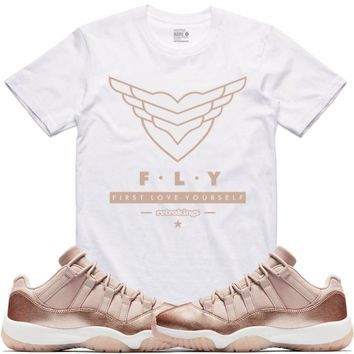 Jordan 11 Rose Gold Sneaker Tees Shirts - FLY RK