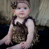 Satin Leopard Rosette Headband, Infant, Toddler, Child, Adult Sizes