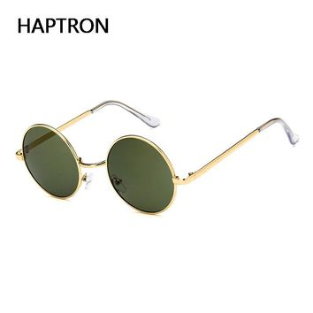 HAPTRON fashion clear sunglasses Metal Sunglasses Men Round Sunglass Steampunk Eyewear Female Vintage Mens color SunGlasses