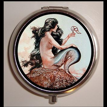 Parisian Mermaid Art Deco Pill box Pillbox by sweetheartsinner