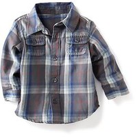 Double-Pocket Button-Front Shirt for Baby