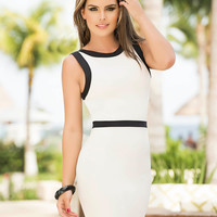 Sexy White Sleeveless Sheath Dress-Summer Dresses