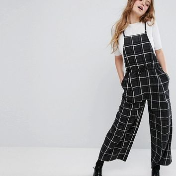 Monki Check Overalls at asos.com