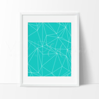 Teal Abstract Triangles