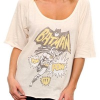Junk Food Clothing - Women's Collections - Online Exclusives - Batman Vintage Triblend Slouch Raglan