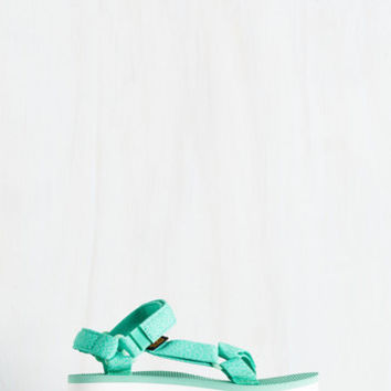 I Wanna Walk With You Sandal in Marled Mint