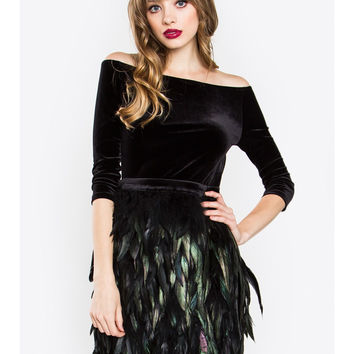 Velvet Feather Dress