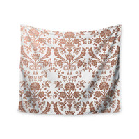 """KESS Original """"Baroque Rose Gold"""" Abstract Floral Wall Tapestry"""