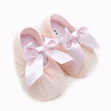Unisex Baby Girls 0-18 Months Toddlers PU Leather Soft Sole Shoes Tassel Crib Bow Shoe First Walkers 4 Colors