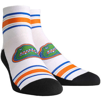 Florida Gators Classic Stripes Quarter-Length Socks - White