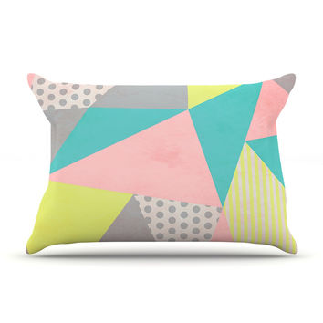 "Louise Machado ""Geometric Pastel"" Pillow Case"