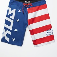 Fox Red White And True Boardshorts - Mens Board Shorts - Red/White/Blue