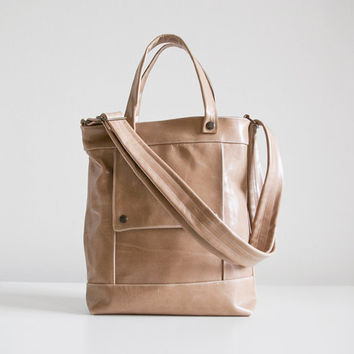 Packet in Chai Latte Tan Leather  Made to Order by jennyndesign