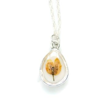 Yellow Real Flower Necklace