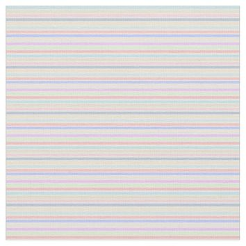 Pastel Stripes Pattern Fabric