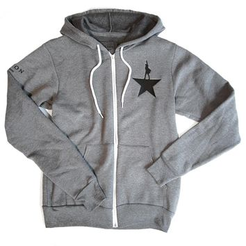 Hamilton Grey Zip-Up Hoodie | Apparel | broadwaymerchandiseshop.com