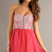 Sequin Party Dress with Lace Up Back