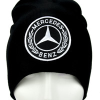 Mercedes Benz Beanie Alternative Clothing Knit Cap Luxury Car