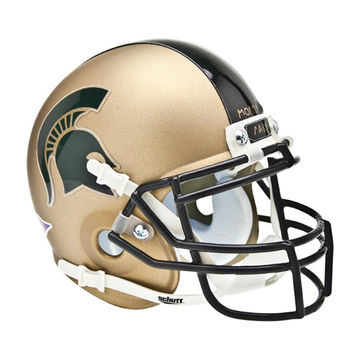 Michigan State Spartans NCAA Authentic Mini 1-4 Size Helmet (Alternate 1)