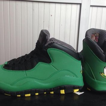 [Free Shipping]Nike Air Jordan 10 Retro  Oregon Ducks  Basketball Sneaker