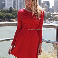 THE LUCKY ONE DRESS , DRESSES, TOPS, BOTTOMS, JACKETS & JUMPERS, ACCESSORIES, SALE 50% OFF , PRE ORDER, NEW ARRIVALS, PLAYSUIT, GIFT VOUCHER,,Red Australia, Queensland, Brisbane