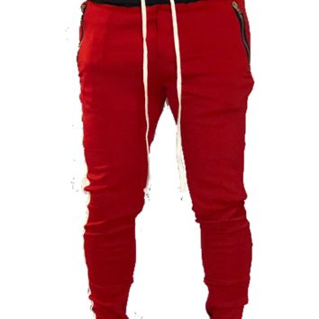Red/White Double Striped Trackpants